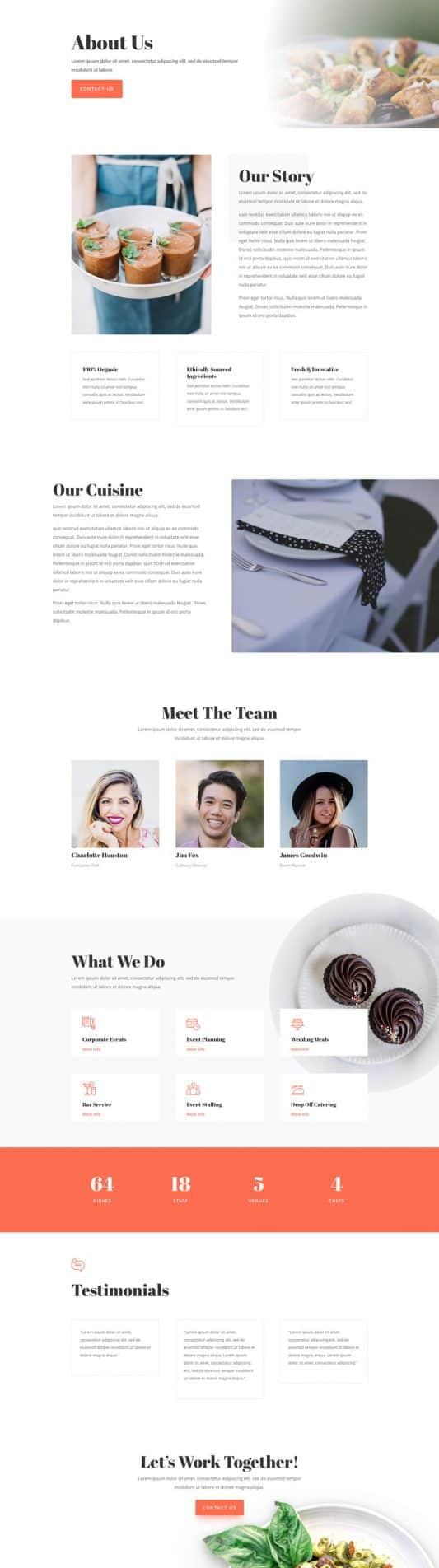 Food Catering Web Design 1