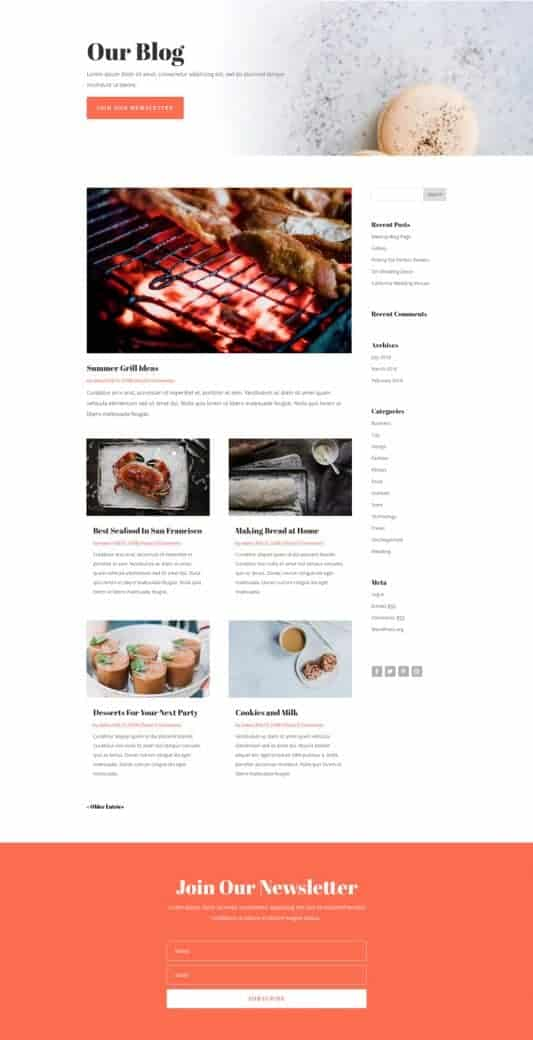 Food Catering Web Design 2
