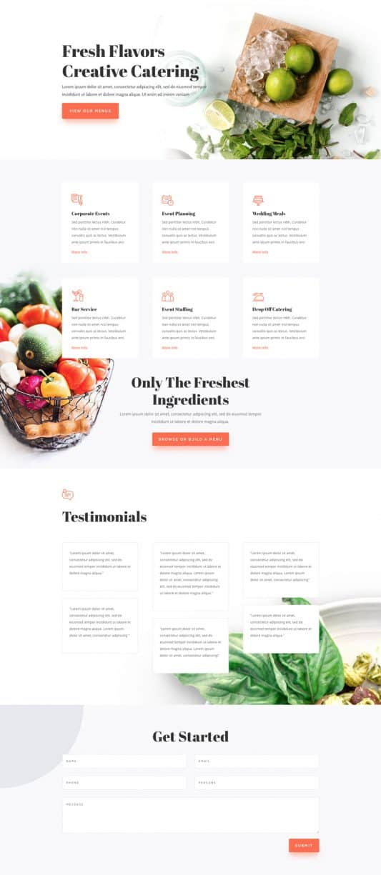 Food Catering Web Design 4