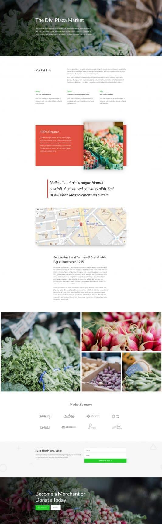 Farmers Market Web Design 8