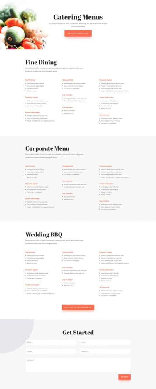 Food Catering Web Design 6