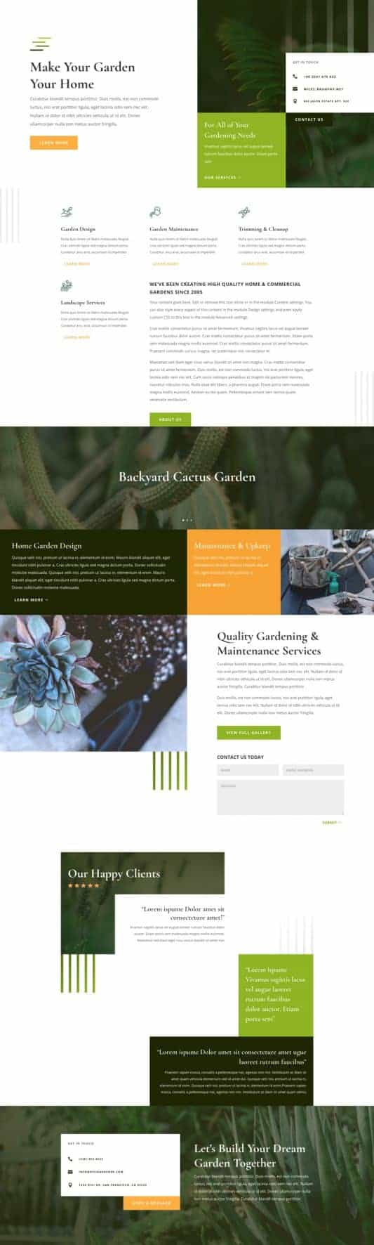 The Gardener Page Style: Homepage Design 1