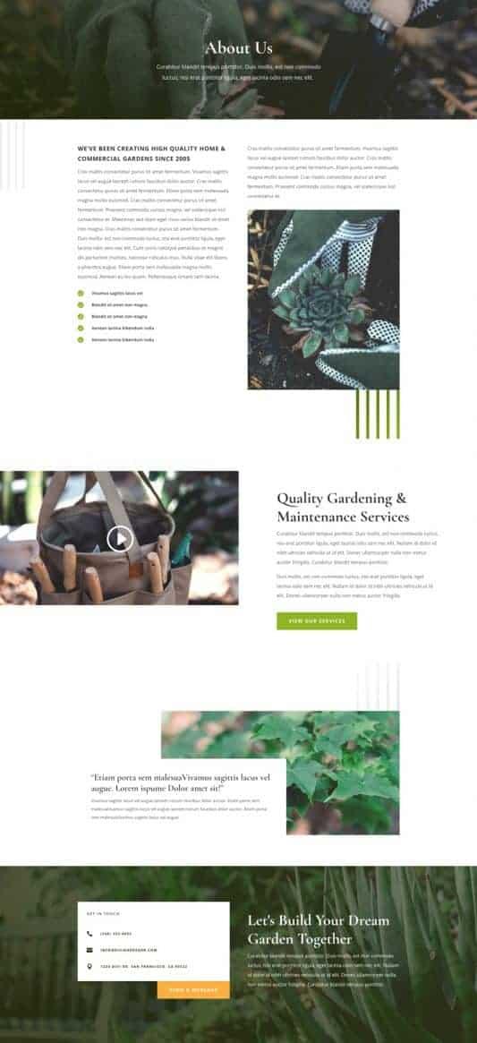 Gardener Web Design 1