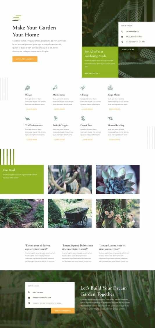 Gardener Web Design 4