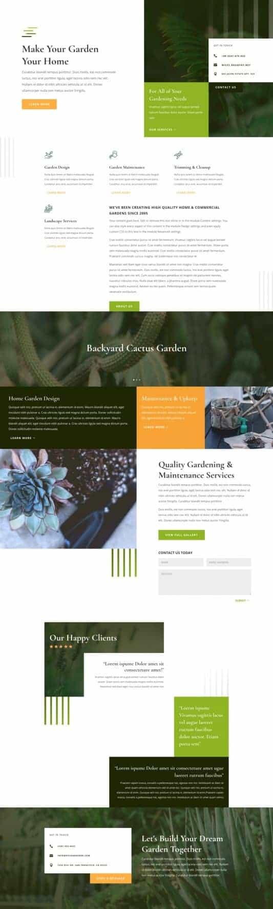 Gardener Web Design 5