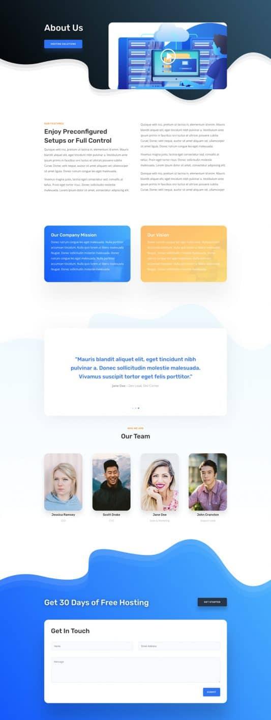 Hosting Company Web Design 1
