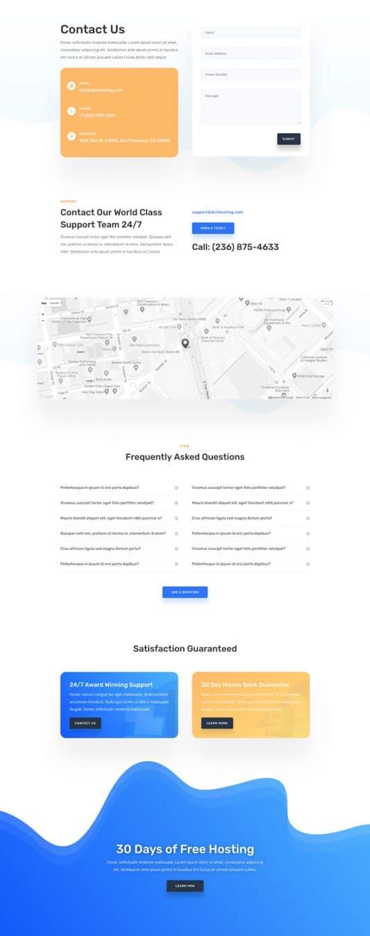 Hosting Company Web Design 3