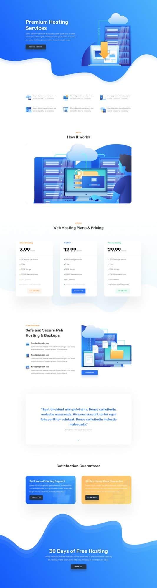 Hosting Company Web Design 4