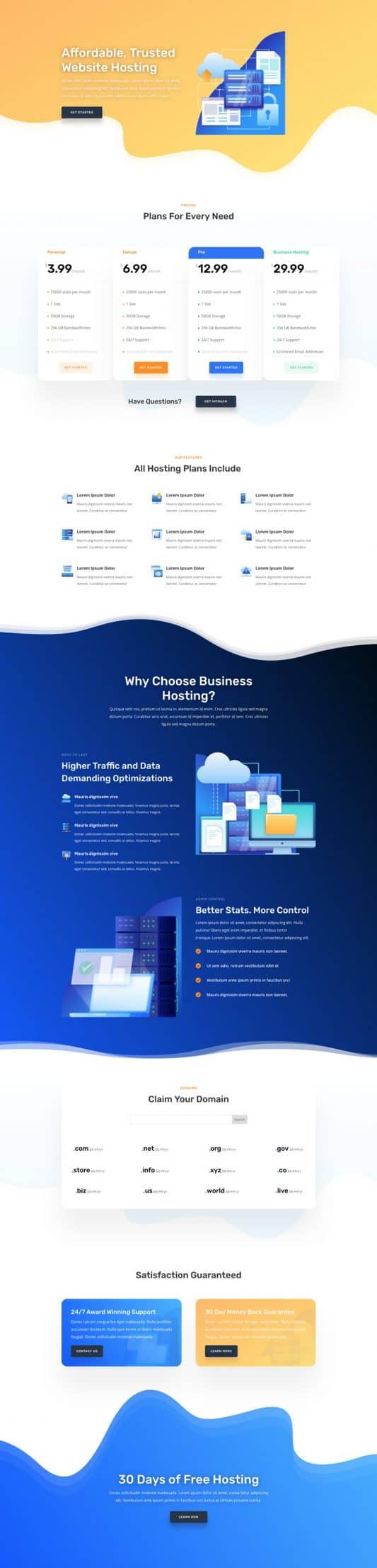 Hosting Company Web Design 6