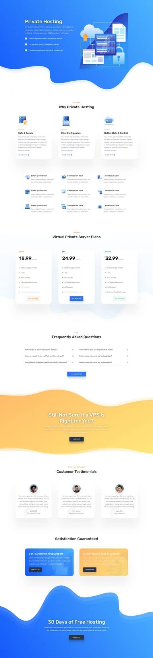 Hosting Company Web Design 7