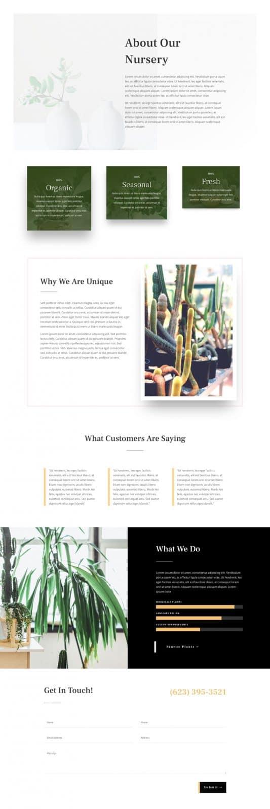 Plant Nursery Web Design 1