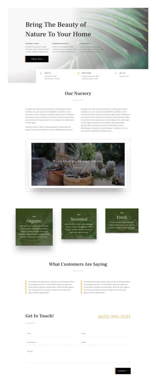 Plant Nursery Web Design 4