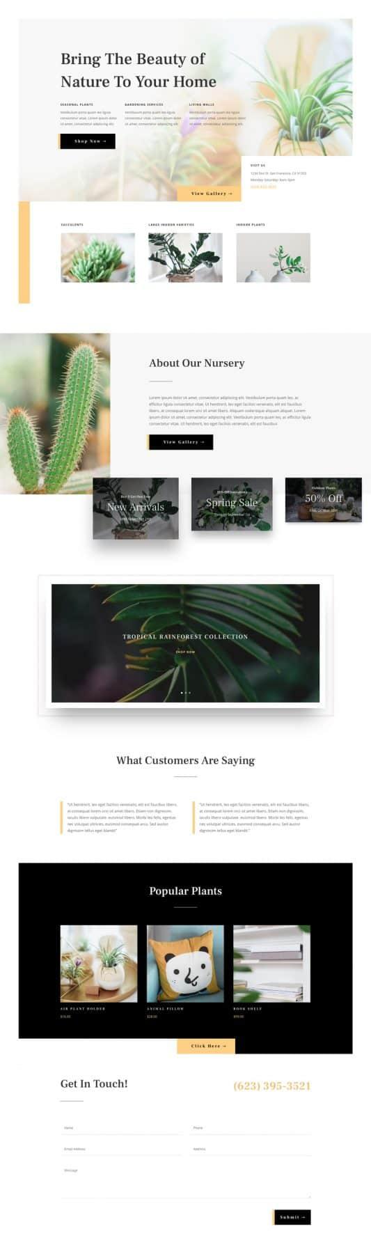 Plant Nursery Web Design 5