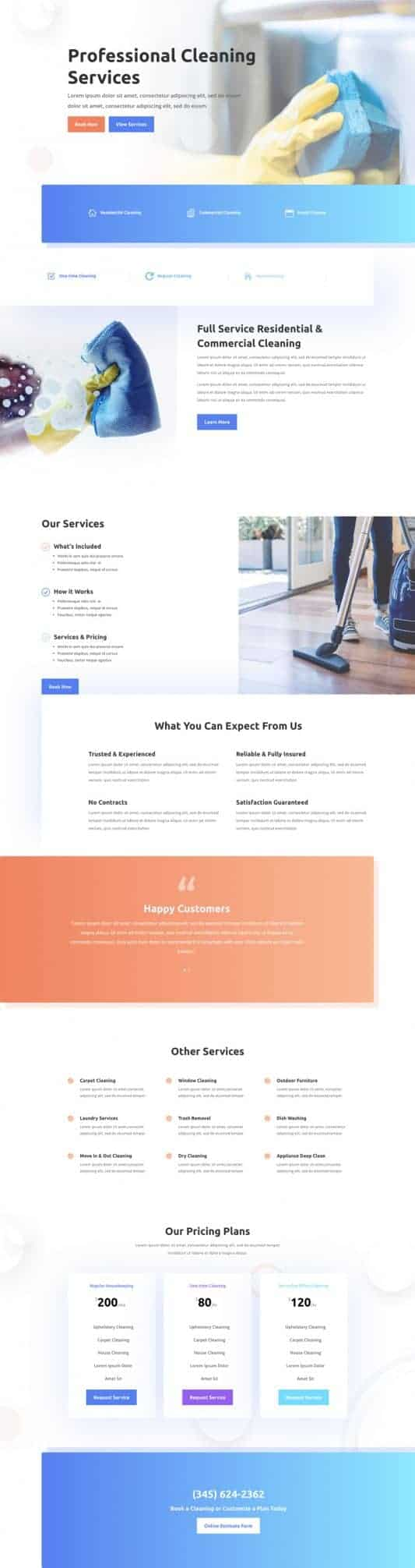The Cleaning Company Page Style: Homepage Design 1