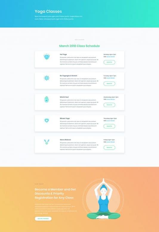 Yoga Studio Web Design 3