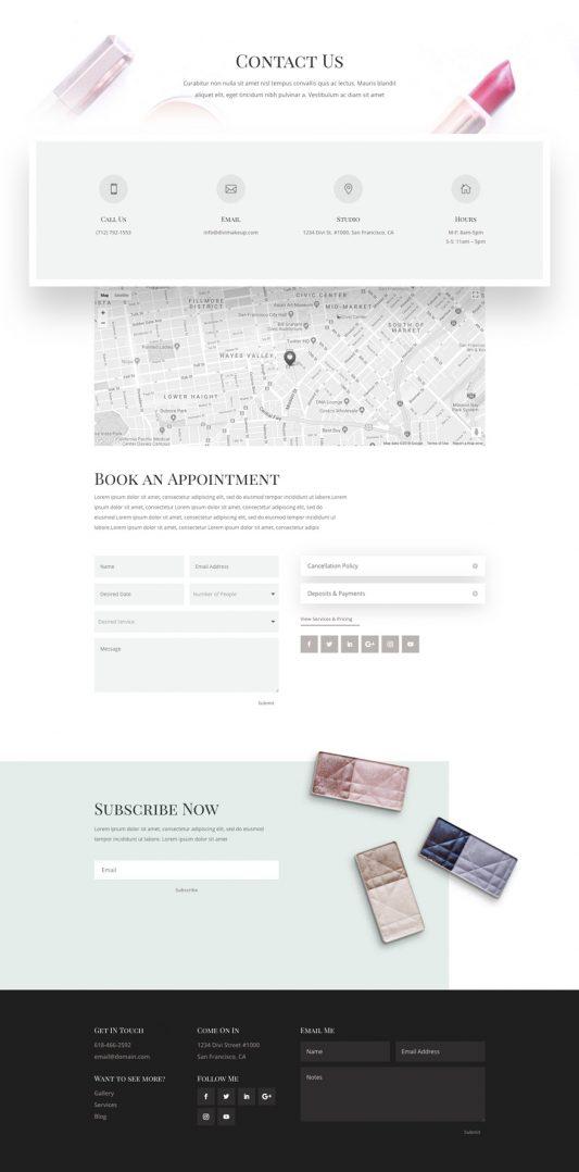 Makeup Artist Web Design 3