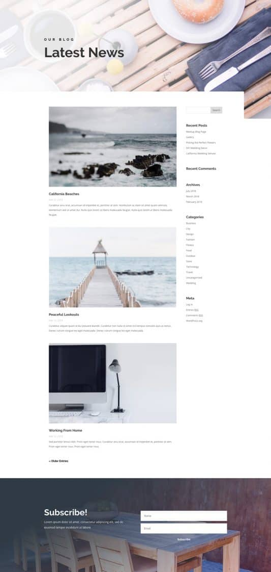 Bed And Breakfast Web Design 2