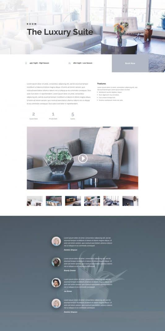 Bed And Breakfast Web Design 6