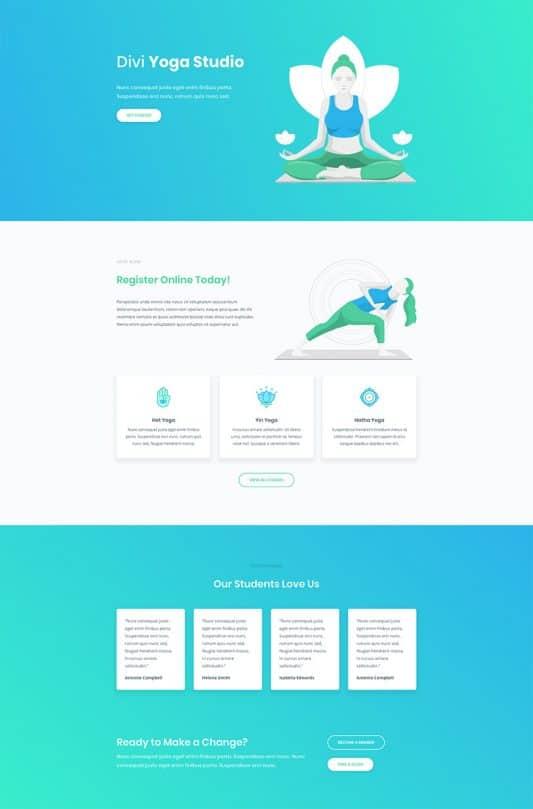Yoga Studio Web Design 5