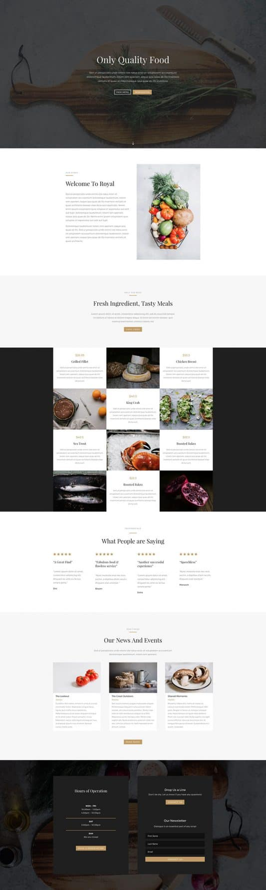 The Restaurant Page Style: Homepage Design 1