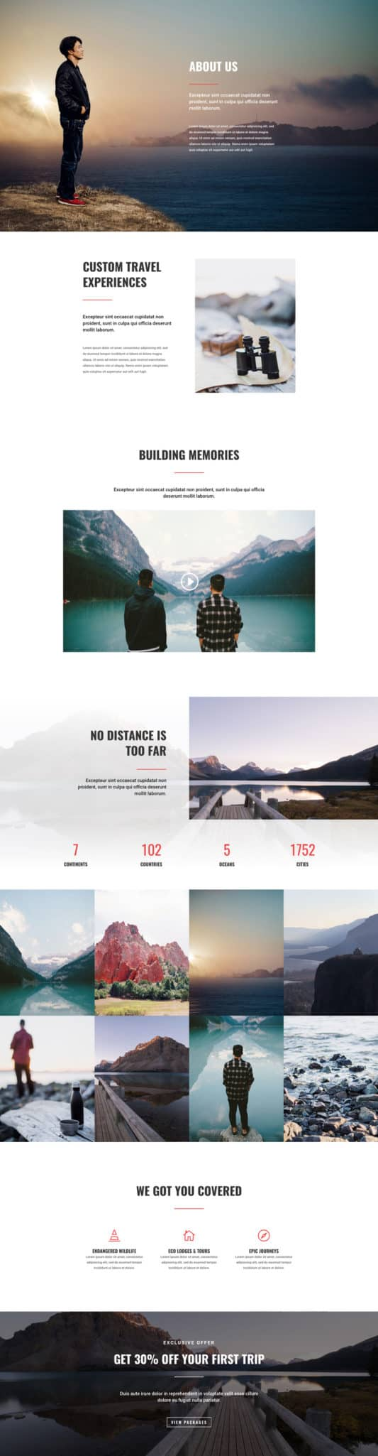 Travel Agency Web Design 1