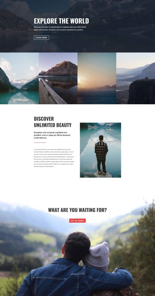 Travel Agency Web Design 4
