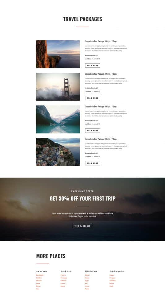 Travel Agency Web Design 6