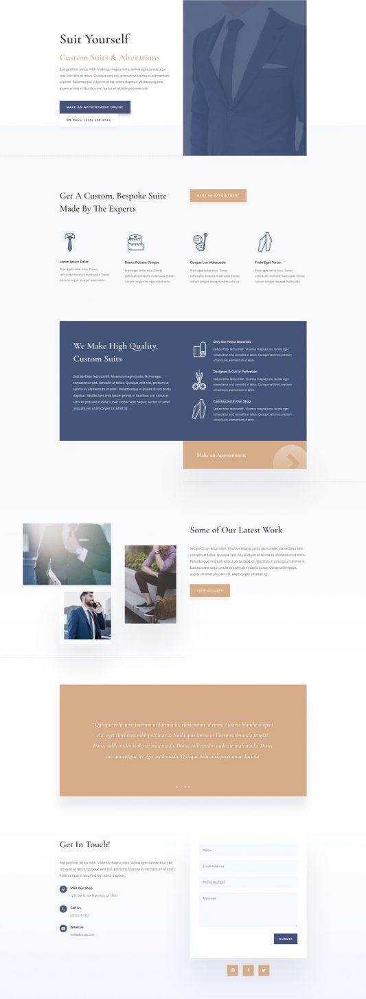 Suit Tailor Web Design 4
