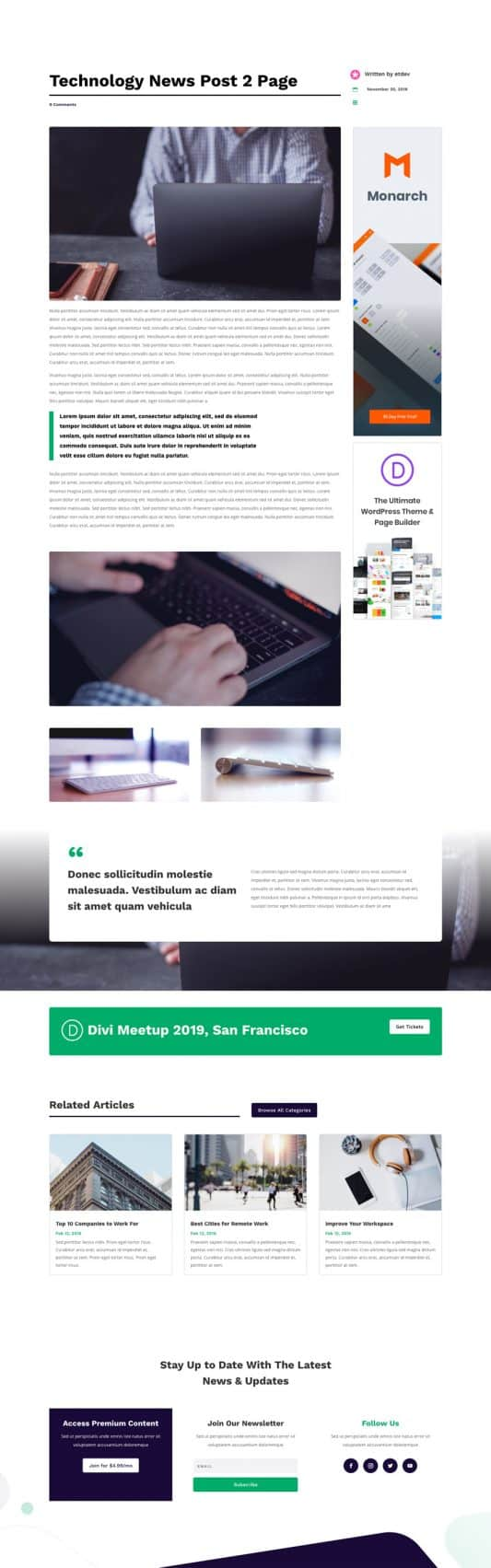 Technology News Post 2 Page Style 1