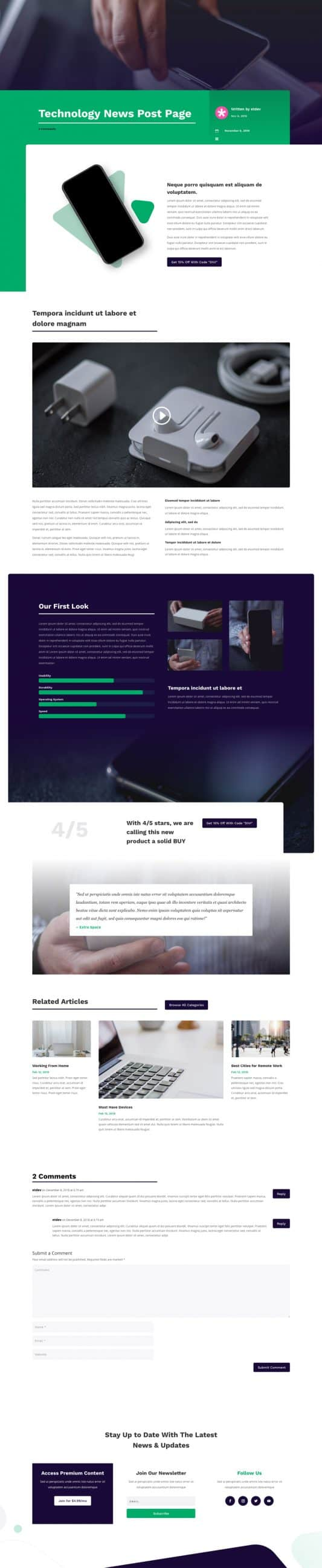 Technology News Web Design 6