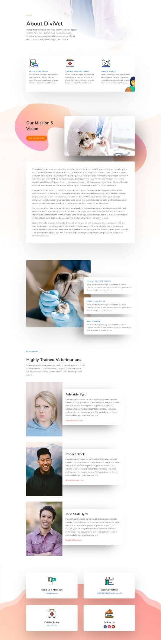 Veterinarian About Page Style 1