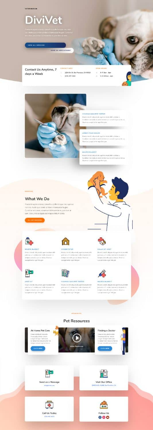 Veterinarian Home Page Style 1