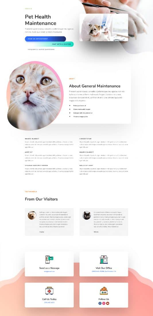 Veterinarian Service Page Style 1