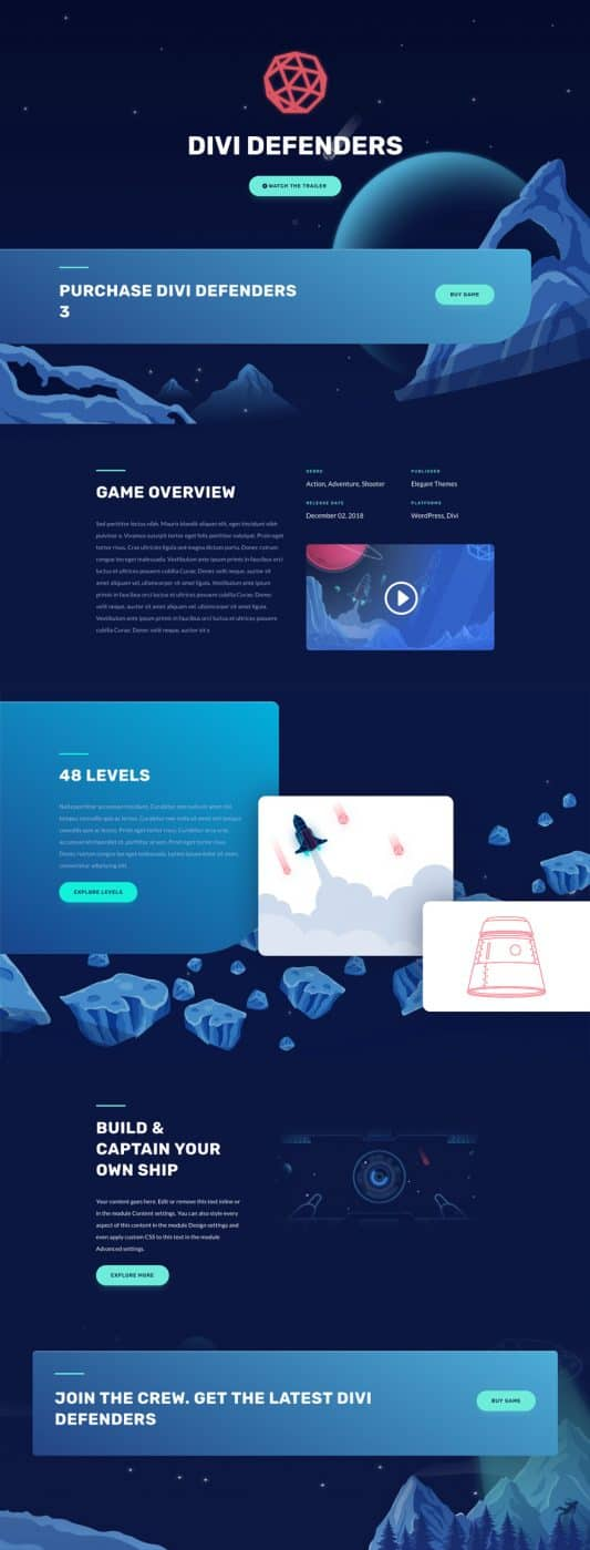 Video Game Web Design 5