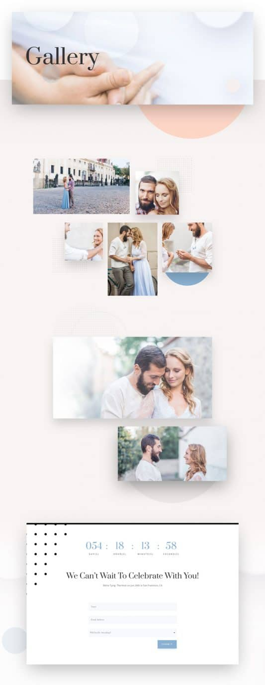 Wedding Engagement Web Design 4