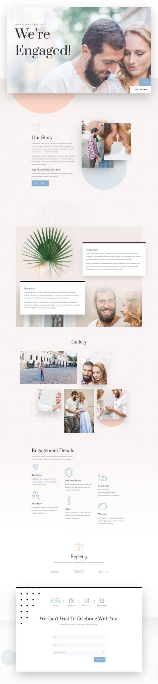 Wedding Engagement Web Design 6