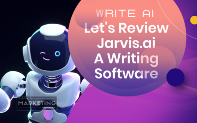 Write AI – Let's Review Jarvis.ai A Writing Software