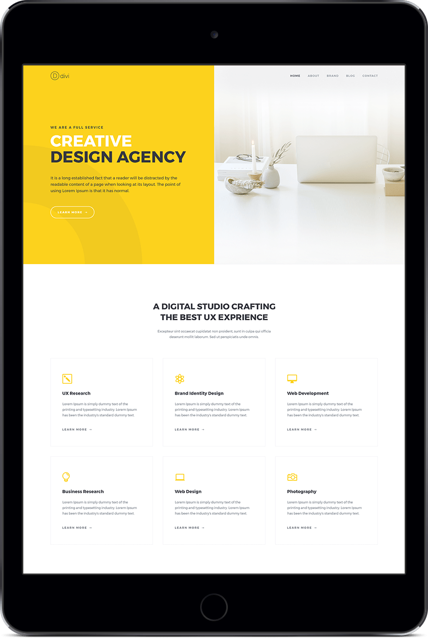 Design Agency Case Study Page Style 6