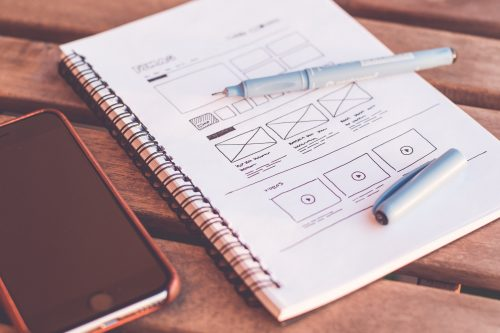web redesign wireframe