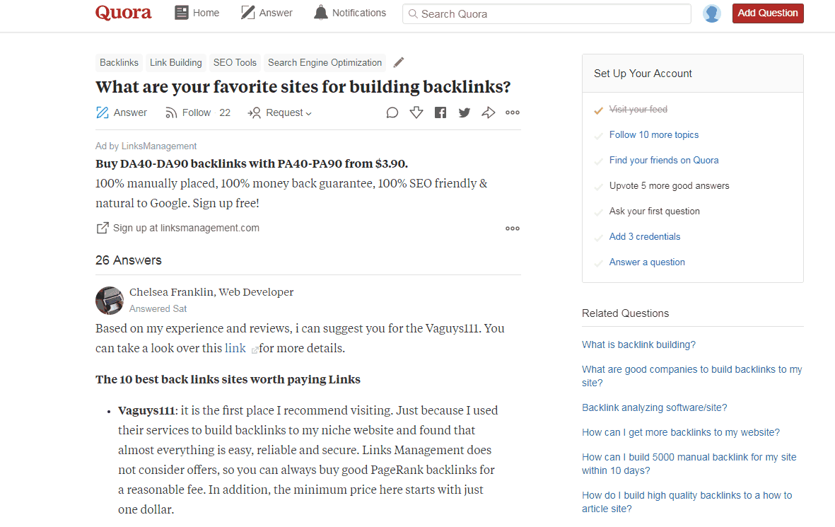 Getting Started With Quora Marketing - Understanding And Using Quora For Marketing 5